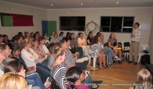 MAES Therapy Seminar, Johannesburg  3.03.15