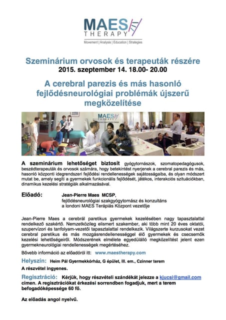 Talk for Professionals, Budapest 14.09.15