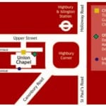 Location Map - Union Chapel, Islington