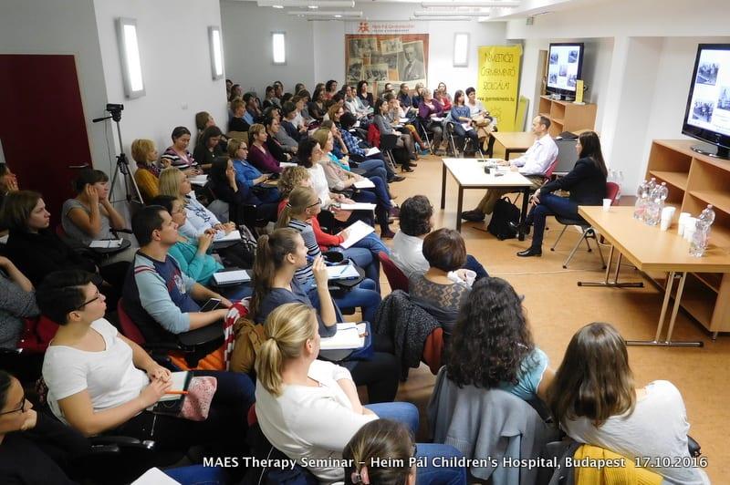 MAES terápia információs est -MAES Therapy Seminar, Heim Pál Gyermekkórház 17.10.2016