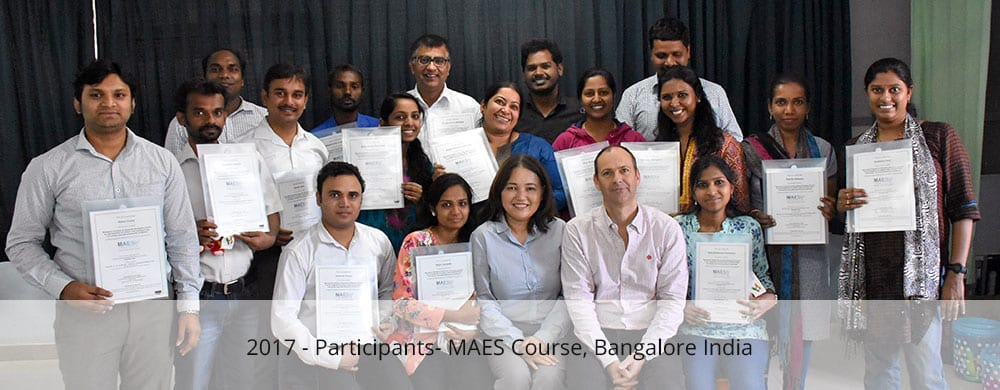 Participants - MAES Course Bangalore 2017