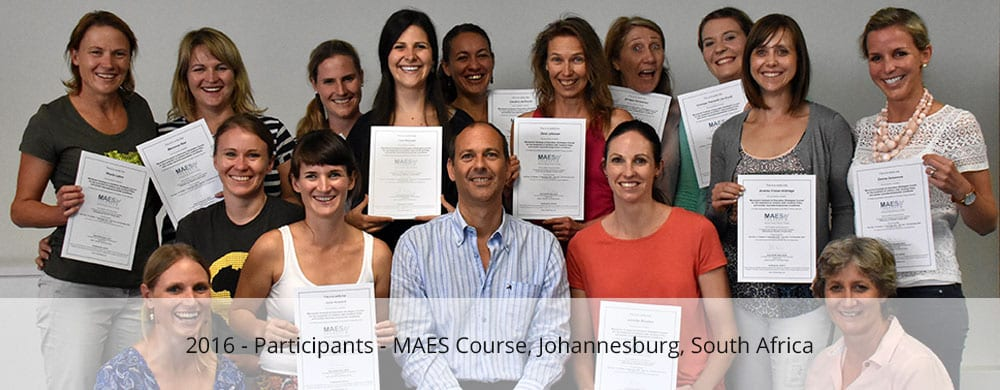 maes therapy course participants johannesburg south africa