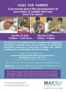 CP Preterm Talks MAES Therapy April & May 2017