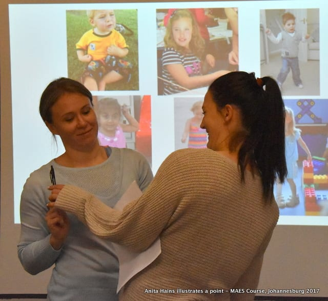 MAES Therapy Course for paediatric Therapists treating children with CP and similar neurodevelopmental conditions - Johannesburg 2017