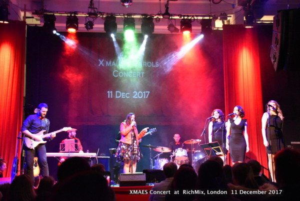 XMAES Carols Concert -wonderful charity night of Christmas Carols to raise money for MAES Therapy and Cittadinanza Onlus. Dec.2017
