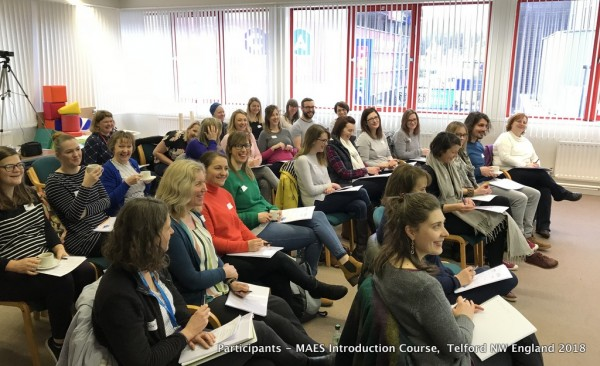 MAES Introduction Course for paediatric therapists treating children with CP Telford NW England 2018