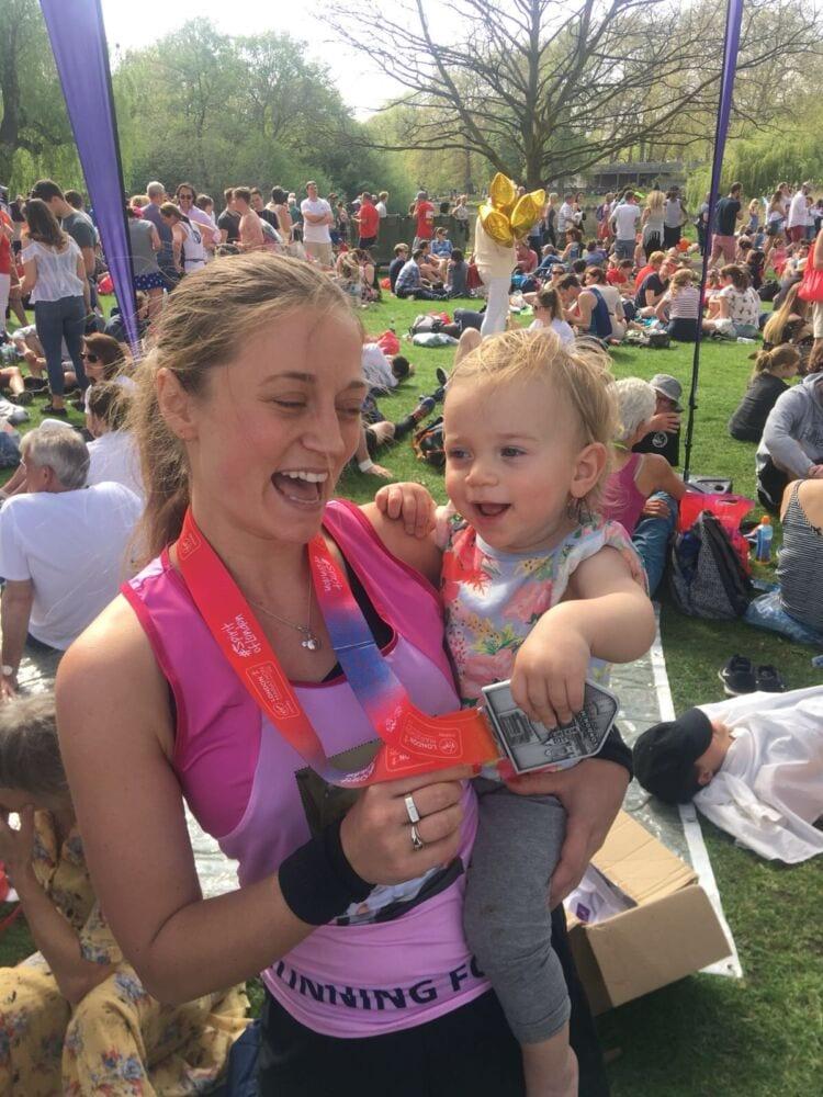 Portia runs London Marathon 2018 for MAES Therapy