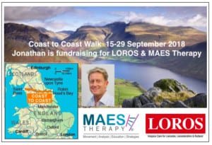 Jonathan Salsbury, Developmental Director MAES Therapy International - fundraising for MAES & LOROS