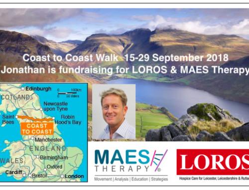300Km Coast to Coast trek across North England – Jonathan fundraising for MAES & LOROS