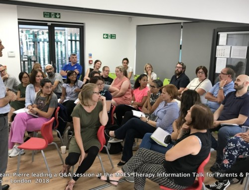 (English) MAES Therapy Information Talk for Parents & Paediatric Therapists – London