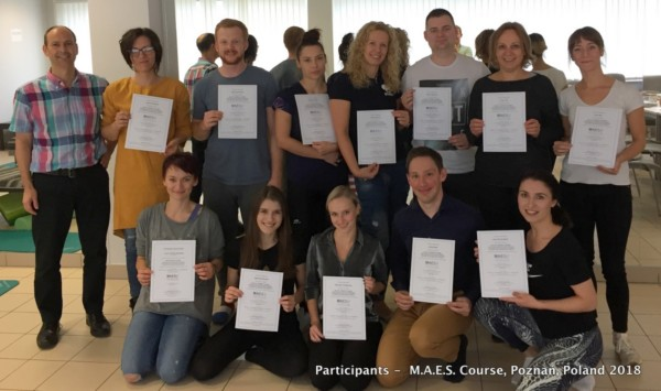 MAES Therapy Course, Poznań, Poland 2018 advanced, highly specialised training course for paediatric therapists treating CP