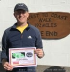 Jonathan Salsbury – Coast to Coast Challenge 2018 – fundraising for LOROS Hospice & MAES Therapy – specialised early therapy treatment cerebral palsy