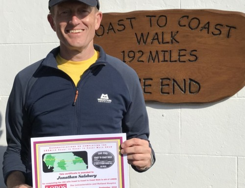 Jonathan Salsbury completes 2-Week Coast to Coast Trek  for MAES Therapy & LOROS