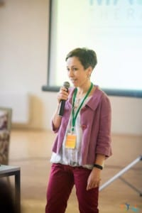 Rozália Apró presenting M.A.E.S. Therapy - Connecting Therapies Conference, Romania 2018
