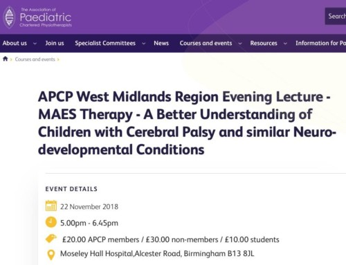 MAES Therapy Presentation – APCP West Midlands Region Evening Lecture