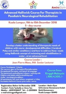 Advanced Halliwick Course for Therapists in Paediatric Neurological Rehabilitation, Malaysia 2018