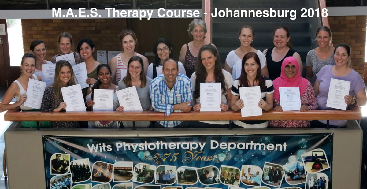 M.A.E.S. Course at Wits University, Johannesburg 2018 - advanced course for paediatric therapists treating children with CP & neurodevelopmental conditions
