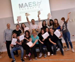 Participants celebrate - MAES Course, Zagreb 2018 i