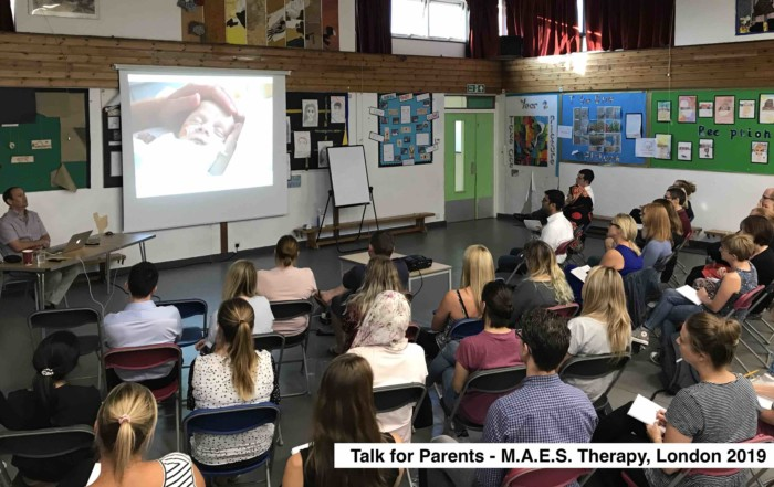 MAES Therapy Information Talk for Parents & Paediatric Therapists London 2019