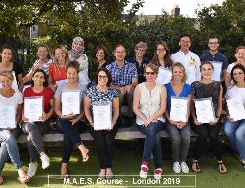 (English) 5th  M.A.E.S. Therapy  Course in UK !