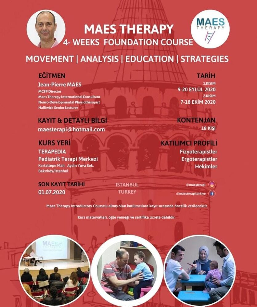 M.A.E.S. Therapy Course - advanced and highly specialised 'hands-on' treatment for children with CP Paediatric Therapists training course, Turkey