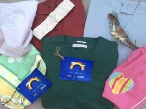 Rainbow Scrubs Facebook group donate handmade sets of 'scrubs' Therapists at MAES Therapy London