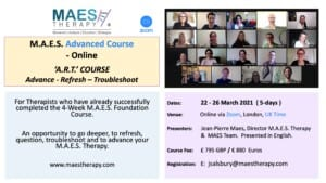 MAES - Specialist 1-Week Advanced Course for Therapists who have already successfully completed the 4-Week MAES Foundation Course.