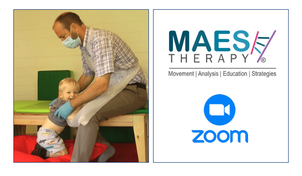 MAES Therapy & Covid-19, MAES Therapy logo & Zoom logo
